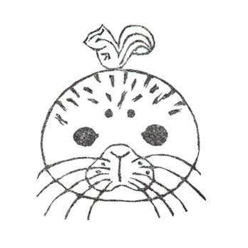 入江めぐみのゴム版画